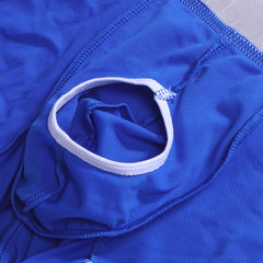 Mens Sexy Pure Color Front Holes Independent Pouch Underwear Mesh Breathable Boxers