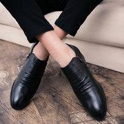 Zapatos formales casuales de gran tamaño de microfibra de cuero antideslizante lateral de los hombres