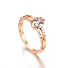 Anelli di barretta delle coppie eleganti Anelli di barretta rotonda degli anelli di zircone della lega per gli uomini delle donne