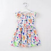 Graffiti Pattern Toddler Girls Kids Summer Casual Dress For 3Y-11Y