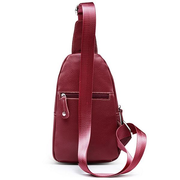 Unisex Fashion Genuine Leather Crossbody Bags Small Shoulder Bag Casual Chest Bag