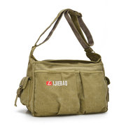 Men Leisure Canvas Multi-pocket Crossbody Bag Sport Bag
