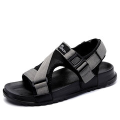 Men Canvas Hook Loop Opend Toe Comfortable Casual Sandals