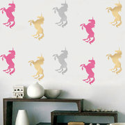 10Pcs Unicorn Wall Stickers Bedroom Living Room Background Wall Decals  Art