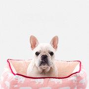 مسدس عميق لينة الحيوانات الأليفة النوم عش دافئ الكلب القط سرير بيت للشتاء