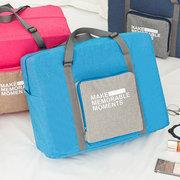 Durable Nylon Viajes plegables ocasionales Bolsa Almacenamiento de ropa Bolsa Equipaje Bolsa