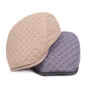 Women Lace Mesh Breathable Berets Hat Casual Sunshade Solid Color Forward Cap