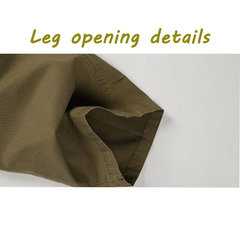 Plus Size Casual Outdoor Multi-Pockets Loose Elastic Straight Leg Cargo Pants For Men