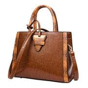 Vintage Tote Handbags Elegant Anti Thief Contrast Color Shoulder Crossbody Bags