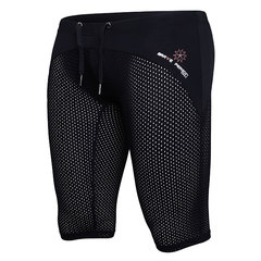 Sexy Sport Beach Swimming Surf Hot Spring Patchwork Breathable Mesh Knee Length Trunks for Men