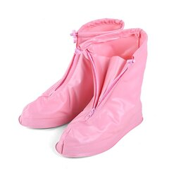 Impermeable Protector Zapatos Funda de arranque Cremallera unisex Cubiertas para zapatos de lluvia Zapatos de lluvia antideslizantes