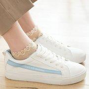 Donna Nylon Pizzo antiscivolo Soft Calze Elastico Comodo estate primavera caviglia Calze