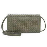 Women Hand-woven Bag Multi-function Long Wallet 8 Card Slot Phone Bags