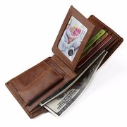 Crocodile Genuine Leather Wallet Vintage Casual Coin Purse Storage Bag For Man