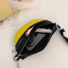 Women's Waist Bag Casual Contrast Color Zipper Design Chic Durable Bag
