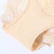 Lace Embroidered Hip Lifting Cotton Crotch Low Rise Panties