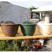 Hanging Flower Plant Pots Balcony Garden Decor Plant Baskets Fence Bucket with Detachable Hook