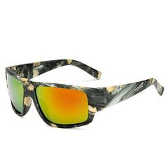 Herren Sport Camouflage HD Polarisierte quadratische Sonnenbrillen UV400 Outdoor-Sonnenbrillen