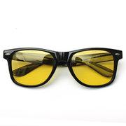 Lunettes de conduite de nuit à lentilles jaunes pour hommes Lunettes de soleil polarisées Lunettes d'équitation