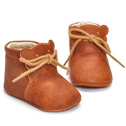 PU Leather Baby Boots Soft Flats First Walker For 0-2 Years