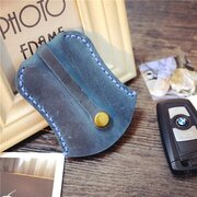 Genuine Leather Vintage Car Key Holder Coin Purse For Men Women