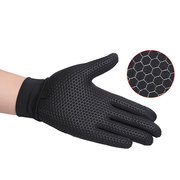 Men Women Summer Breathable Mesh Touch Screen Cycling Gloves Outdoor Fishing Gloves
