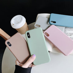 Soft TPU Simple Solid Color iPhone Phone Shell Materiale spesso