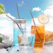 8pcs Stainless Steel Drinking Straws Kit Set Environmental Friendly Straws with Silicone Accesorries