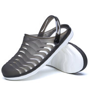Men Breathable Hollow Out Slippers Beach Casual Sandals