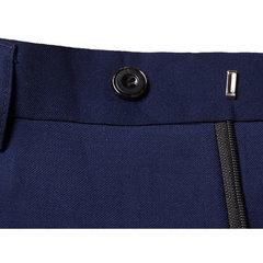 Two Pieces Solid Color Slim Fit Wedding Business Dress Blazer Suit&Pants For Men