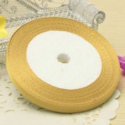 6mm 25Yards Reel Grosgrain Ribbon Wedding Birthday Decoration Party Gift Candy Box