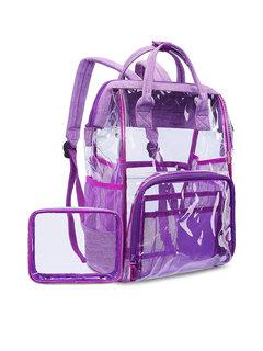 Sac à dos transparent de sac de plage de PVC de gelée de PVC de patchwork de femmes