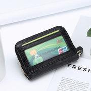 Cuir véritable couleur bonbon 11 fentes pour cartes titulaire de la carte porte-monnaie sacs à monnaie