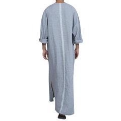 Винтажные свободные футболки из лена с длинными рукавами