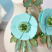 JASSY® أزياء المرأة حلوى لون زهرة حجر الراين أقراط هدية للحساسية