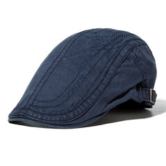 Mens Cotton Letter Embroidery Berets Hats Casual Sport Visor Work Forword Caps