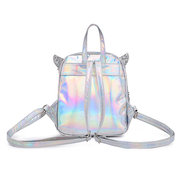 Women Laser Shoulder Bag Sequin Wings Backpack Cute Reflective Bag