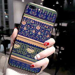 Damen vogue Chinesischen Stil Palace Emboss Phone Case Back Cover Anti-Fall für iPhone