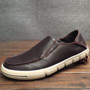 Uomo Vera Pelle Soft Mocassini traspiranti portatili scarpe casual