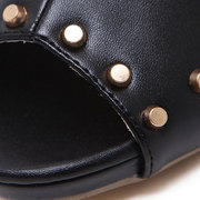 Rivet Fish Mouth Sexy High Heels Pumps For Women