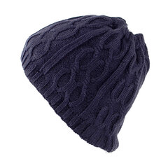 Mens Wool Velvet gestrickt Hut Winter Thick Vintage Lässige Hals-Hals-Warmer Schal Beanie Double Use