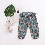 Pantaloni per bambini Pantaloni bambini dei bambini di stile della lanterna floreale dei bambini Abbigliamento per 1-7Y