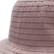 Womens Foldable Wild Solid Bucket Cap Bow Decoration Wild Outdoor Travel Fisherman's Hat