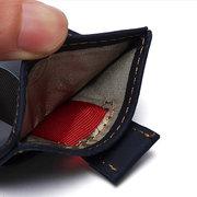 RFID Antimagnético Couro Genuíno Vintage Carteira Titular Do Dinheiro Do Cartão De Dinheiro Para Os Homens