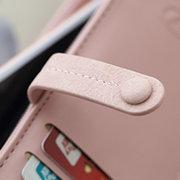 Porte-cartes en cuir élégant élégant creux longue portefeuille