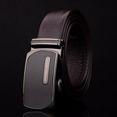 Men's Belts Luxury Genuine Leather Cowskin Belt Automatic Buckle Male Waist Strap