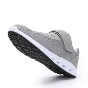 Men Advanced Cushioning Mesh Fabric Running Shoes Breathable Lace Up Sneakers