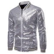 Performance Dress Sequin Printing Wedding Banquet Club Stage Jacket for Men
