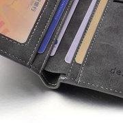 Portefeuille court de pièce de monnaie d'affaires de porte-monnaie imperméable multifonctionnel occasionnel de 10 cartes pour hommes