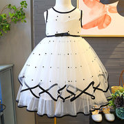 Patch Designs Girls Kids Backless Printed Fancy Princess Dresses For 2Y-13Y